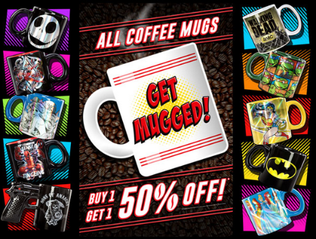 BOGO 50% Off All Coffee Mugs at Spencer's