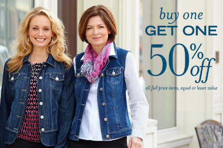 BOGO 50% Off All Full Price Items at C.J. Banks