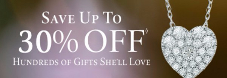 Up to 30% Off Hundreds of Gifts She'll Love