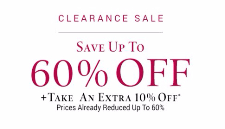 Extra 10% Off Clearance Styles