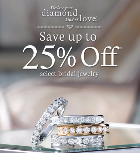 Up to 25% Off Select Bridal Jewelry