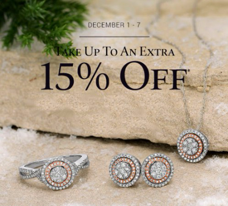 Take up to an Extra 15% Off Everything