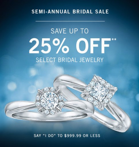 Up to 25% Off Select Bridal Jewelry at Zales