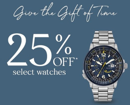 25 Off Select Watches