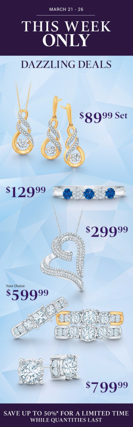 Save up to 50% Off Dazzling Deals