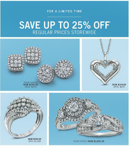 Save up to 25% Storewide at Zales