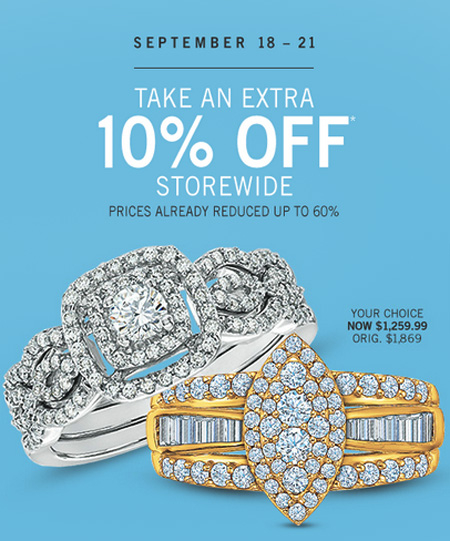 Take an Extra 10% Off Storewide at Zales