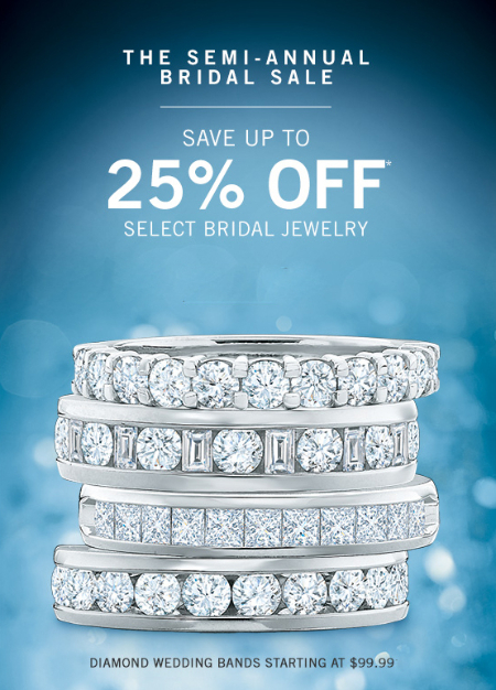 25% Off Select Bridal Jewelry