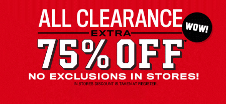 Extra 75% Off Clearance