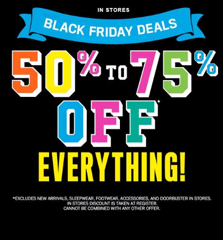 50% - 75% Off Black Friday Sale