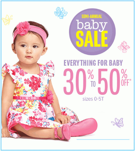 Shop in store today and take 30 50 off everything for baby