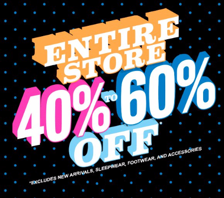 40% to 60% Off Everything