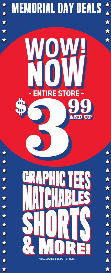 Everything $3.99 & Up