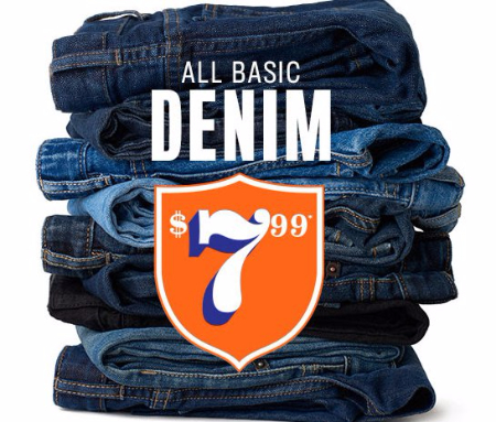 $7.99 All Basic Denim