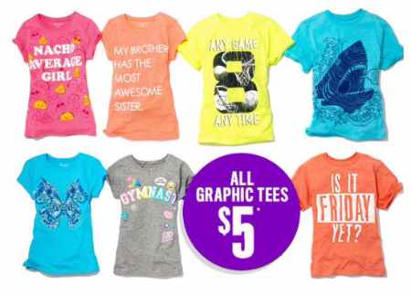 $5 All Graphic Tees