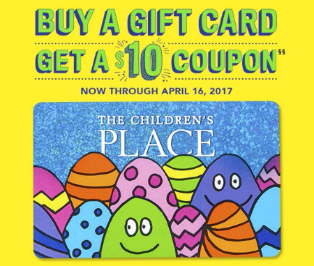 Children's Place, The | Buy a Gift Card, Get a $10 Coupon