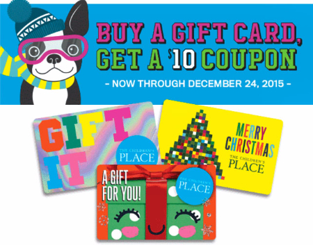 Give a Gift Card, Get a $10 Coupon