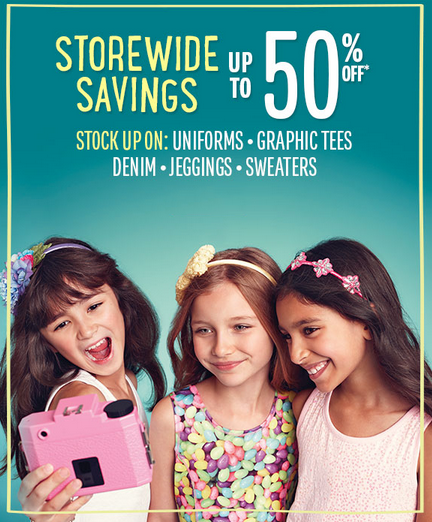 Save Up to 50% Off Storewide at The Children's Place