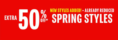 Spring Styles: Extra 50% Off at The Children's Place