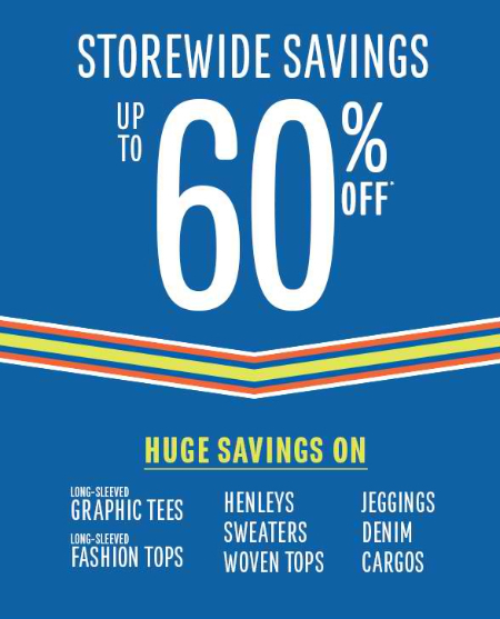 Up to 60% Off Storewide at The Children's Place