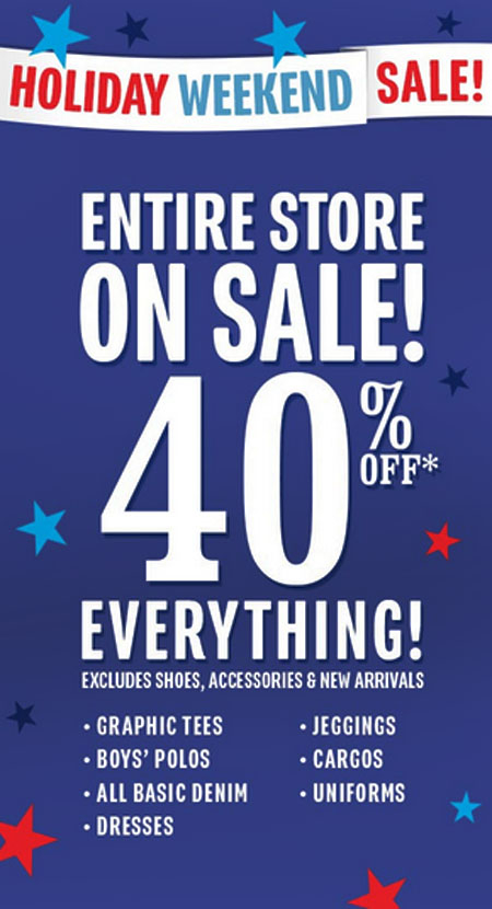 40% Off Entire Store at The Children's Place