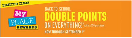 Back-to-School Double Points at The Children's Place