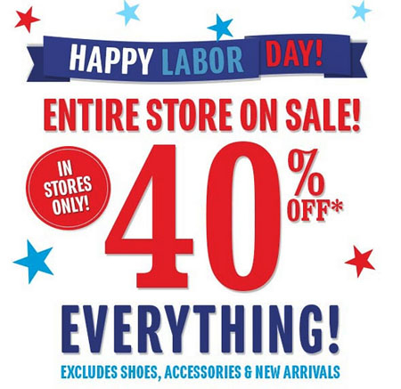 40% Off Everything at The Children's Place