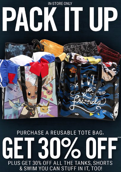 Take 30% Off When You Purchase a Reusable Tote Bag