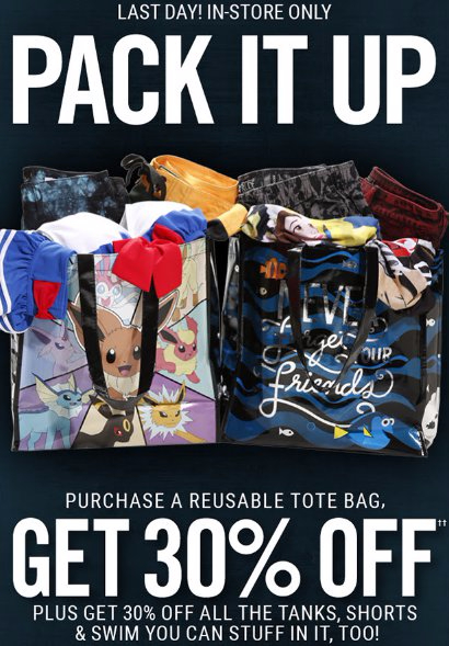 Get 30% Off When You Purchase a Reusable Tote Bag