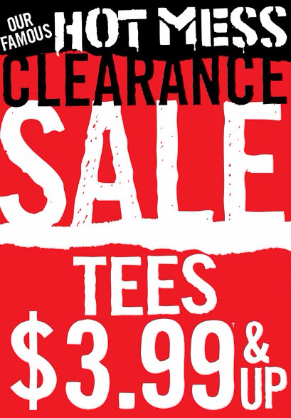 Hot Mess Clearance Sale