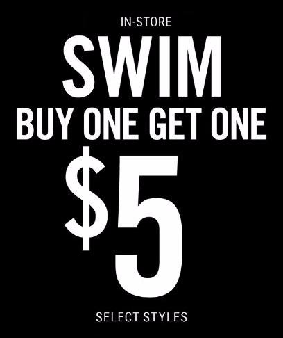 BOGO $5 Swim