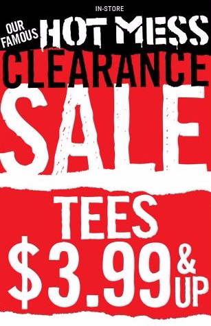 Tees for Only $3.99 & Up