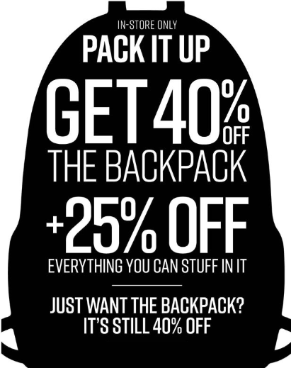 9fa135e764c31 Orlando Fashion Square     Get 40% Off The Backpack     Hot Topic