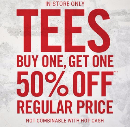BOGO 50% Off Tees & Tanks