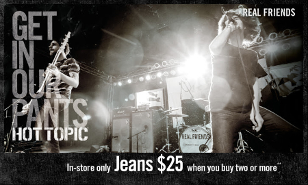 $25 Jean Buy Two or More at Hot Topic