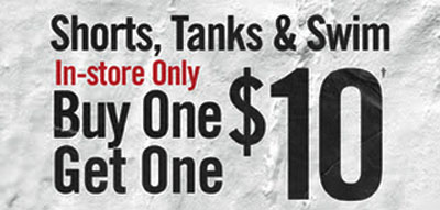 BOGO $10 Shorts, Tanks & Swim at Hot Topic