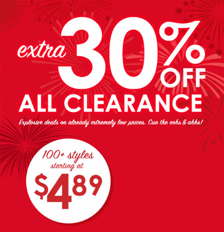 Extra 30% Off All Clearance at Justice & Brothers