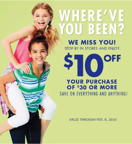 $10 Off $30 or More Purchase