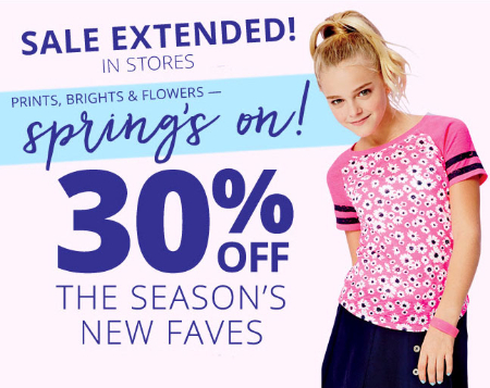 30% Off The Season's New Faves