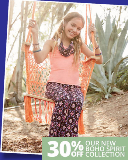 30% Off Select Boho Collection Styles