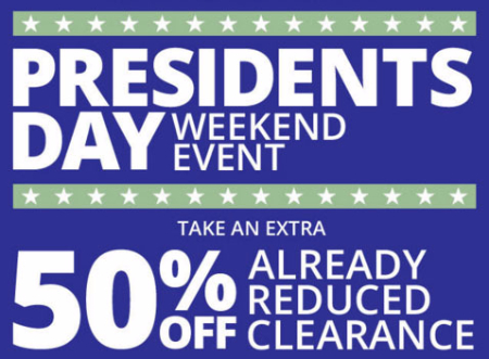Extra 50% Off All Clearance Merchandise