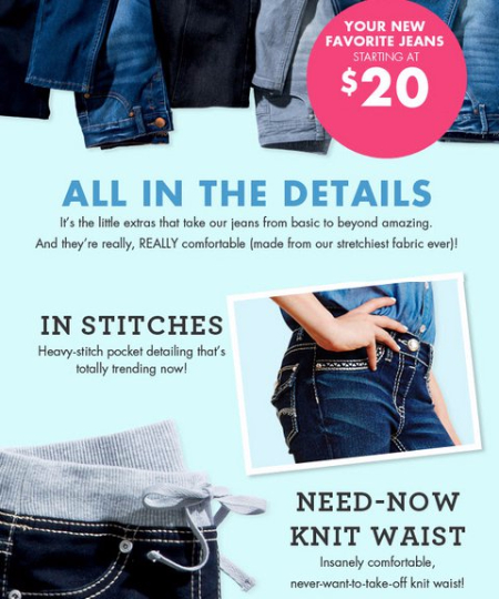 Girls Jeans Starting at $20
