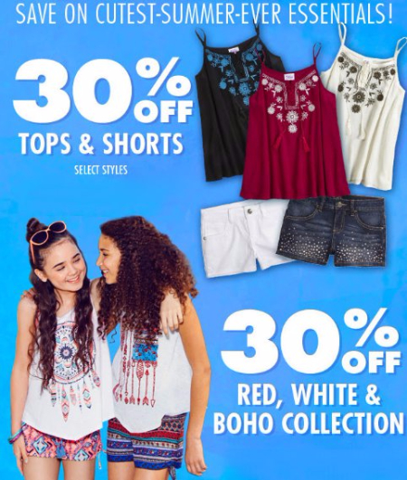 30% Off Tops & Shorts