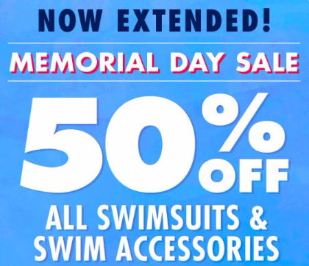 50% Off All Swimsuits & Swim Accessories