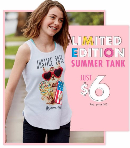 Limited Edition Summer Tank Just $6