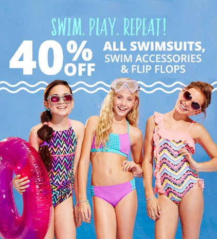 40% Off All Swimsuits, Swim Accessories & Flip Flops