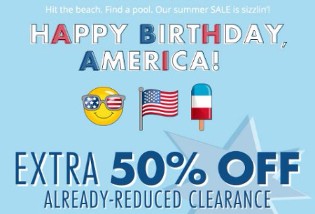 Extra 50% Off Already-Reduced Clearance