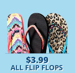 $3.99 All Flip Flops