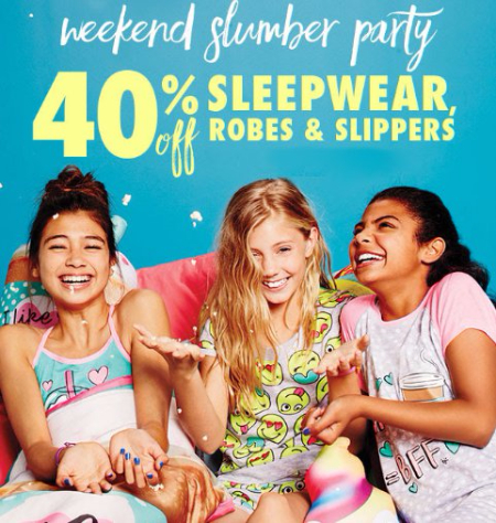 40% Off Sleepwear, Robes & Slippers