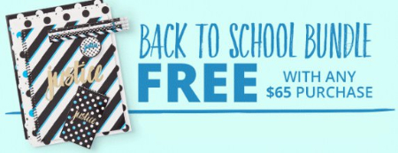 Back to School Bundle Free With Any $65 Purchase